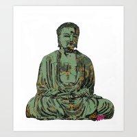 The Big Buddha Art Print