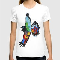 Raven Dance Womens Fitted Tee White SMALL