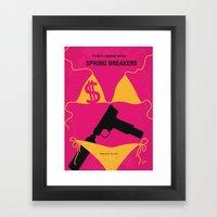 No218 My SPRING BREAKERS minimal movie poster Framed Art Print