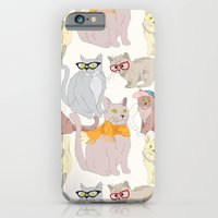 iPhone & iPod Case featuring Accessory Cats by Marlene Pixley