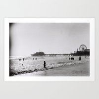 Santa Monica On Film Art Print