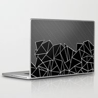 Ab Lines 45 Black Laptop & iPad Skin