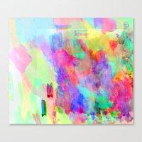 Neon Wash Canvas Print