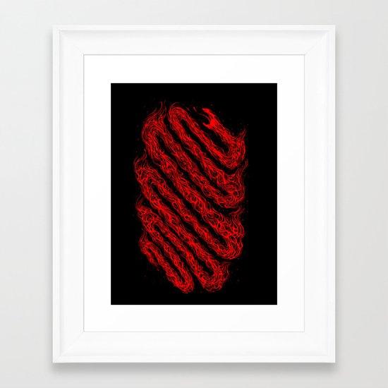 The fire snake Framed Art Print