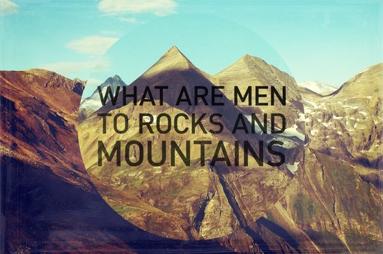 Mountains and Men Canvas Print