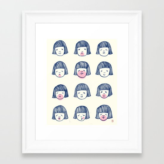 Bubble bubble bubble gum Framed Art Print