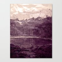 Olden Days Memories of the Mountain calling Canvas Print