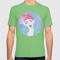 Selfie Girl_11 Mens Fitted Tee Grass SMALL