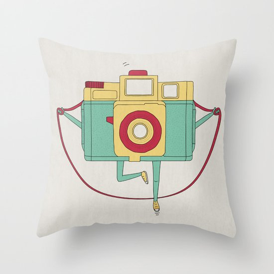 1, 2, 3, click! Throw Pillow