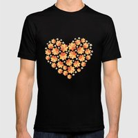Denim Heart Mens Fitted Tee Black SMALL