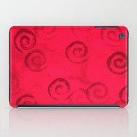 Festive Red Spirals iPad Case