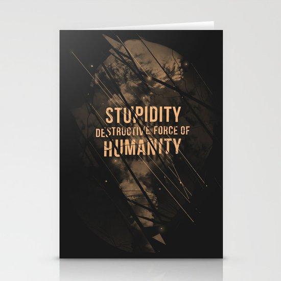 Stupidity Stationery Card