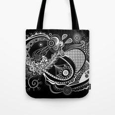 Spring tangle, black Tote Bag