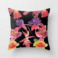 Tropical Print Throw Pillow
