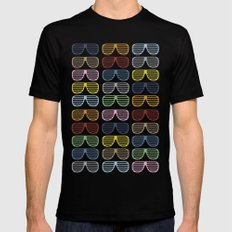 Rainbow Shutter Shades Mens Fitted Tee Black SMALL