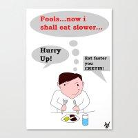 Slow Eating Elf Canvas Print