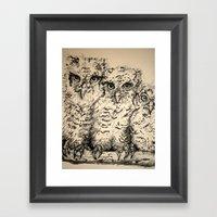 Owls, 2.5 - Original Framed Art Print