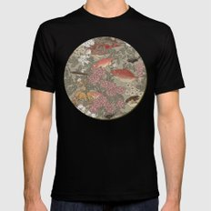 Fishes & Flowers - Seamless pattern SMALL Black Mens Fitted Tee