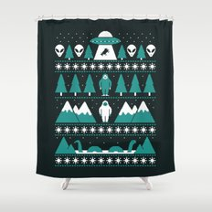 Paranormal Xmas Shower Curtain