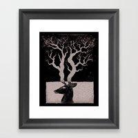 Deer, Death & Renewal Framed Art Print
