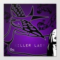 KILLER LADY PURPLE Canvas Print