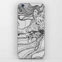 Magic Force / Original A4 Illustration / Pen & Ink iPhone & iPod Skin