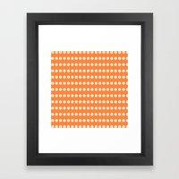 Circular Orange Dots Pattern Framed Art Print