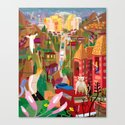 Playboys and Geishas in Old Los Angeles Canvas Print