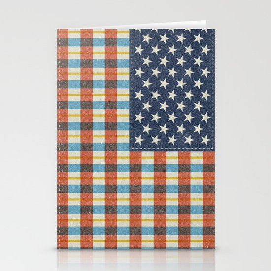 Plaid Flag. Stationery Card