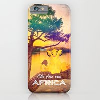 iPhone Cases featuring This time for africa - for iphone by Simone Morana Cyla