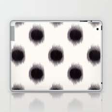 Ikat Dots Black and White Laptop & iPad Skin