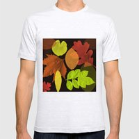 Autumn Leaves Mens Fitted Tee Ash Grey SMALL