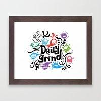 Daily Grind - White Framed Art Print