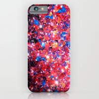 WRAPPED IN STARLIGHT Bold Colorful Abstract Acrylic Painting Galaxy Stars Pink Red Purple Ombre Sky iPhone 6 Slim Case