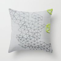 Neon Geometric Throw Pillow