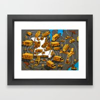STL Beer Takes Flight Framed Art Print