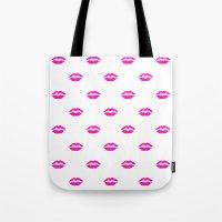 Pink Lipstick Tote Bag