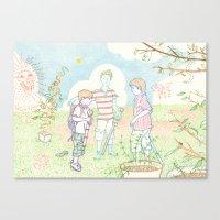 Canvas Print featuring Hero Meeting by Aiko Tagawa