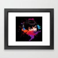 sexy stereo::famke Framed Art Print
