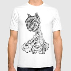 Feline Sentient SMALL White Mens Fitted Tee