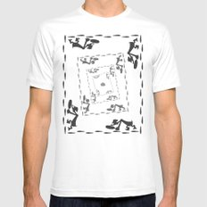 The Great Piggy Bank Robbery SMALL White Mens Fitted Tee