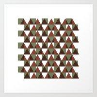 #350 Interference – Geometry Daily Art Print