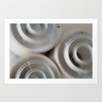 Vintage Blurry Luminarie… Art Print