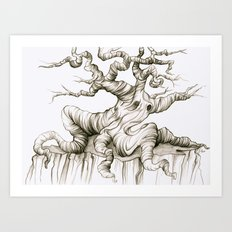 Sad Sad Tree Art Print