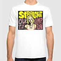 Straight Outa' Compton Mens Fitted Tee White SMALL