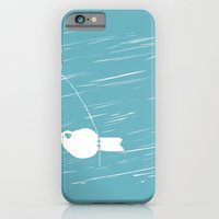 iPhone Cases featuring Whimsical farm- Tweety by Little Dean