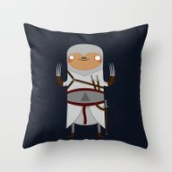 Assassin Sloth Throw Pillow