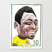 Canvas Print featuring PELE by BANDY