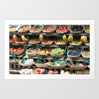 Market Baskets Art Print
