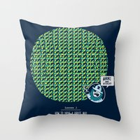 How to Drive a Pirate Mad Throw Pillow
